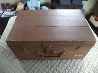 Ministry Of Defence Wooden Box Storage E.  T.  C photo