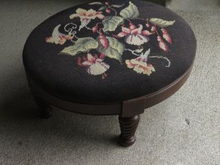 Vintage Oval Footstool Ottoman 18