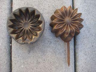 Vintage/antique Millinery Multi Petal Flower Sunflower ? Mold Tool Bronze? photo