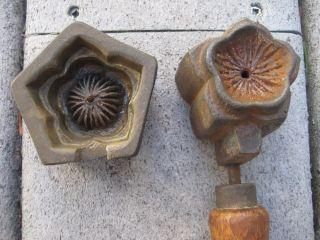 Cute Vintage/antique Millinery Petal Flower Mold Tool Bronze? photo