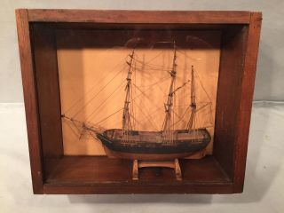 Ship Model Bark Of 1825 Made 1849 By Capt William Bucknam Of Yarmouth Me No Res photo