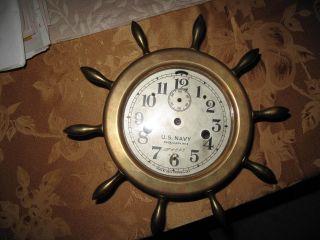 Seth Thomas Us Navy Ships Clock Case photo