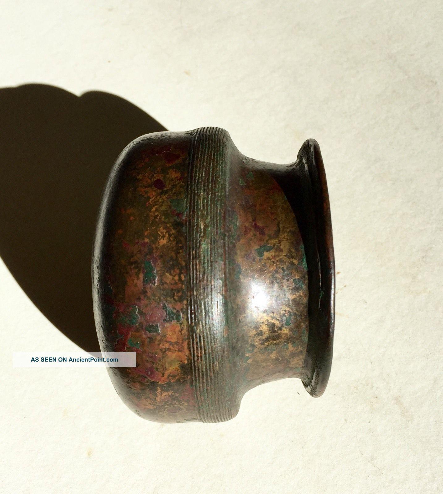 Ancient Persian Achaemenid Bronze Vessel C6th - 4th Century Bce Near Eastern photo