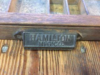 Hamilton Printers Type Case 32