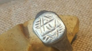 Viking Solid Silver Ring photo