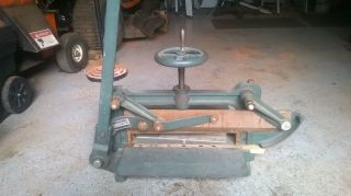 Anitque Cast Iron Michael All Purpose Guillotine Cutter Stack Paper Cutter photo