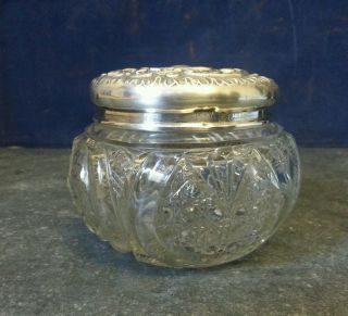 Antique Silver Topped Dressing Table Bottle Birmingham 1904 Lawson & Ward photo