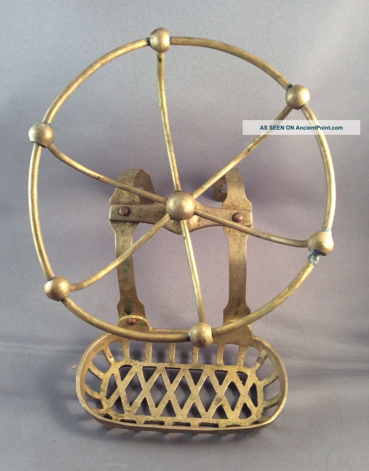 Antique Vintage Victorian Brass Soap Sponge Dish Clawfoot Tub ...
