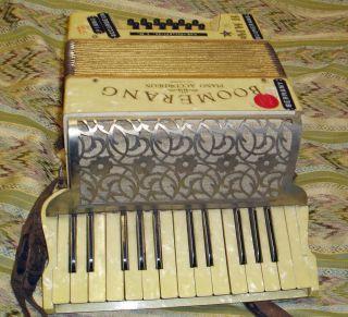 C1920 Antique Musical Instrument Boomerang Piano Accordion Germany Wurlitzir photo