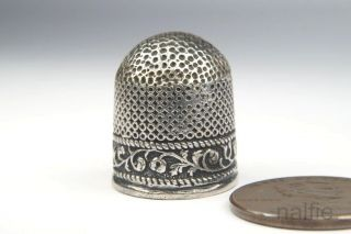 Unusual Early Antique Sterling Silver Sewing Thimble C1600 ' S $1 photo