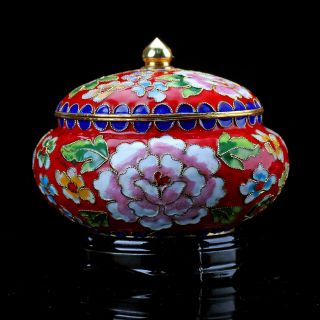 Chinese Collectable Cloisonne Hand Painted Flower Pots Z10 photo