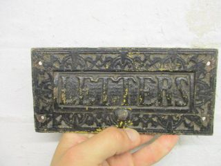 Victorian Cast Iron Letterbox Post Slot A.  K & Sons 1800 ' S Architectural Antique photo