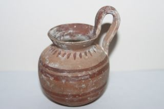 Quality Ancient Greek Pottery Hellenistic Olpe 3rd Century Bc Winejug Cup photo