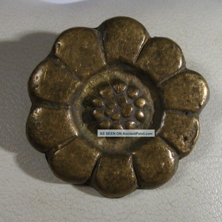 Vintage Antique Bronze Flower Application Medieval Or Post Medieval /997 Byzantine photo