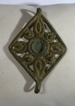 Vintage Antique Bronze Application Medieval Or Post Medieval /982 photo