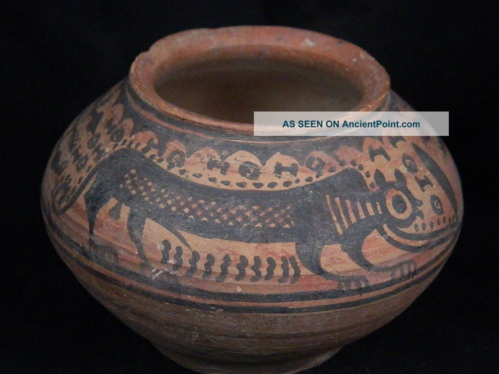 Ancient Teracotta Painted Pot With Lions Indus Valley 2500 Bc Pt15463 Near Eastern photo