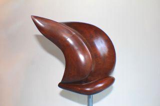 Hat Block Fascinator Form Wooden - Hutform Holz photo