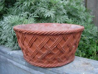 Rare Sankey Bulwell Terracotta Plant Pot Basket Weave Design 7