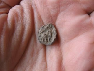 Ancient Roman Lead Seal With Cross And Archer 1 - 2 Ct.  Ad Unique photo