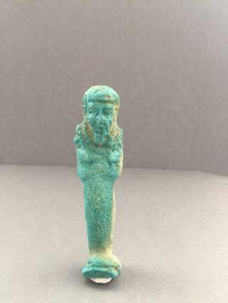 Ancient Egyptian Faience Ushabty photo