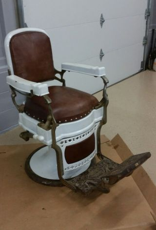 Vintage Koken Antique Barber Chair photo