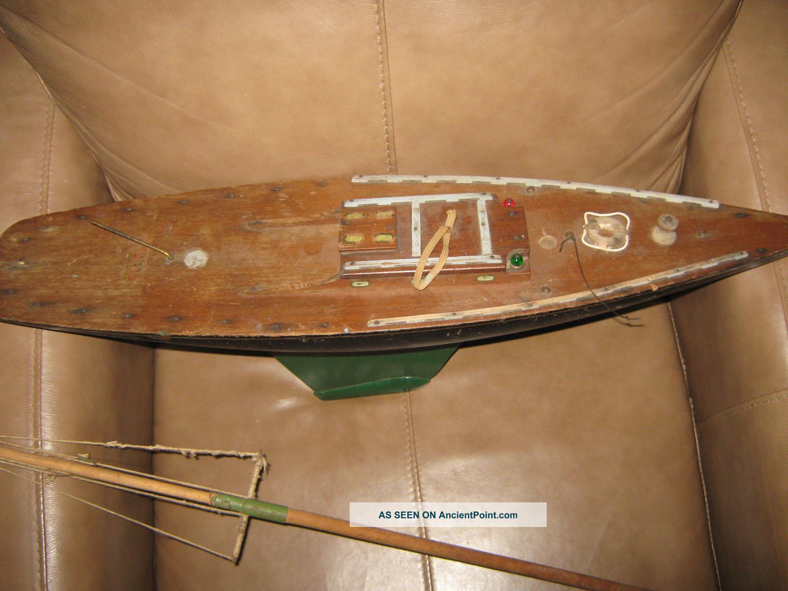 Antique Wood Pond Boat Model Ships photo