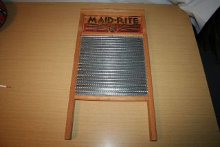 Maid - Rite Standard Family Size Special Metal Washboard Columbus No.  2072 photo