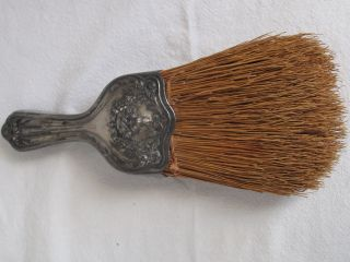 Antique Silverplate Whisk Broom photo