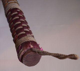 Vintage Red Turkeywing Style Hearthsweep Broom By Berea photo