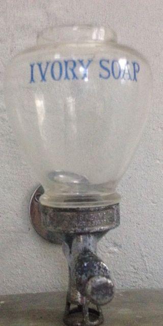 Antique Rare Proctor & Gamble Ivory Glass Soap Dispenser Oct 1923 photo