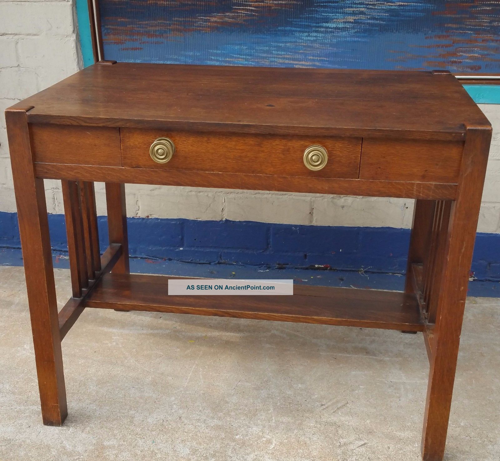 furniture style lane table desk stickley bailey library antique in brothers item ruby f mission pic