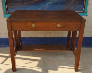 Arts And Crafts Desk / Table By Knoxville 1920 ' S Stickley / Roycroft Era photo