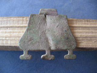 Ancient Celtic Bronze Warriors Applique 600 - 400 Bc. photo