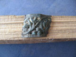 Ancient Celtic Gold Plated Bronze Applique 600 - 400 Bc. photo