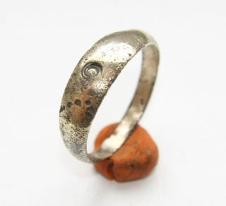 Ancient Old Bronze Decorated Ring (ocr30) photo