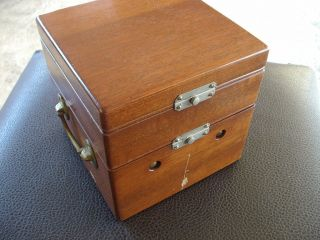 Waltham Ships Chronometer Complete With Gimbles And Mahogany Box photo