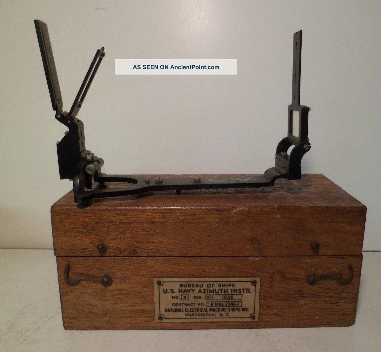 Ww2 U.  S.  Navy Bureau Of Ships Azimuth Instrument Mk 2 Series N 1942 Other Maritime Antiques photo