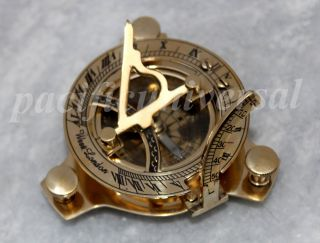 Nautical Brass West London Sundial Compass Marine Pocket Compass Gift 3