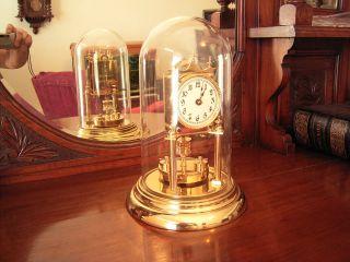 Antique Uk,  400 Day Disc Pendulum Torsion Anniversary Clock Circa 1900 photo