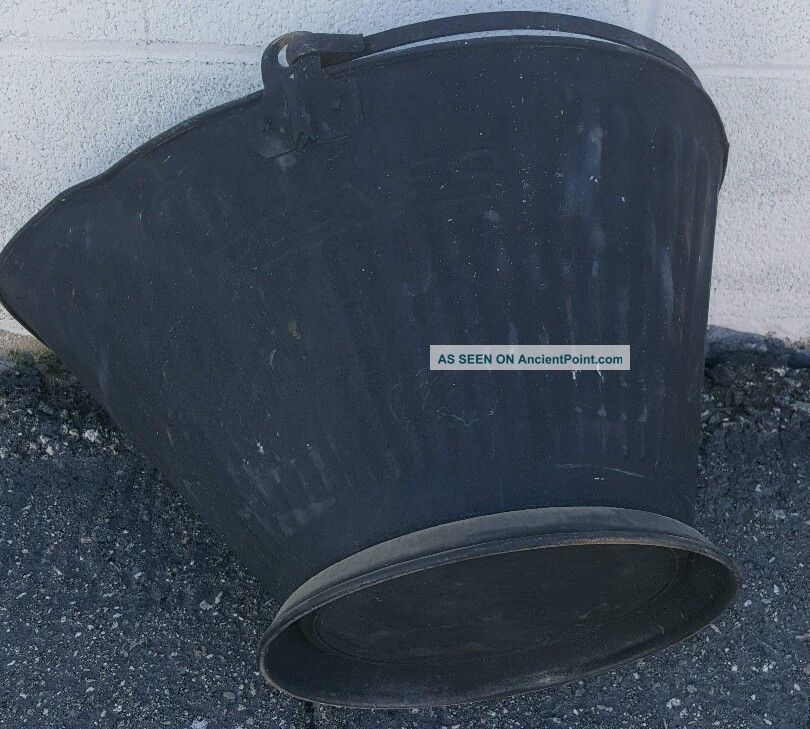 Vintage Galvanized Reeves 17 Coal Or Ash Bucket Pail Hearth Ware photo
