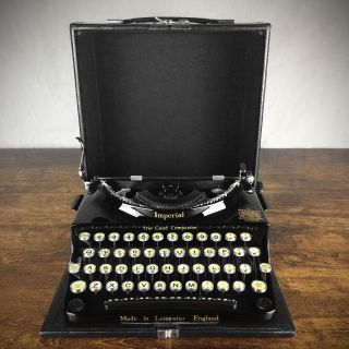 Vintage 1930s Imperial ' Good Companion ' Typewriter Near And photo