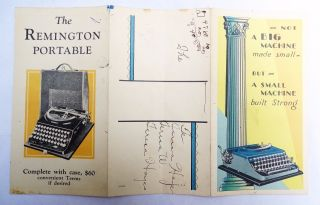 Rare Old 1920s Remington Portable Color Typewriter Brochure Art Deco Style Color photo