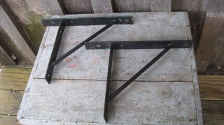 Vintage Cast Iron Wall Shelf Brackets Door Gate Sign Home & Garden Hardware photo