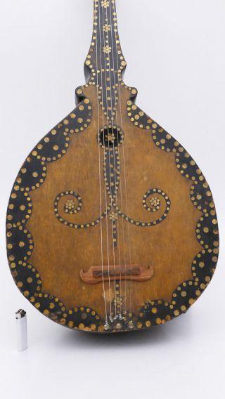 Very Old Antique Historical Lute Luth No Violin Guitar Viola Violine Bouzouki photo