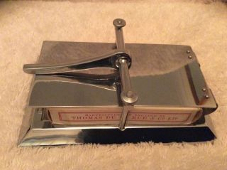 Lovely Wmf Chrome Plated Card/flower Press photo