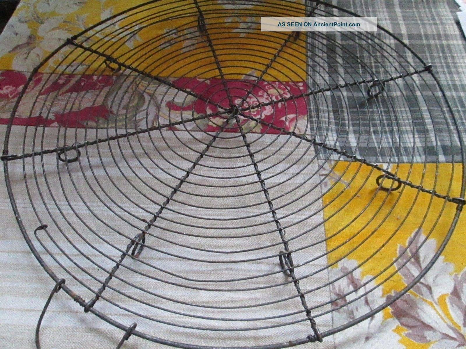 Old French Round Wirework Cooling Rack Trivet Kitchen Trivets photo