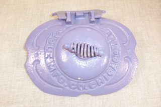 Antique Cole Coles Cast Iron Stove Part Coal Door Vent 1910 Parlor Metal Wood photo