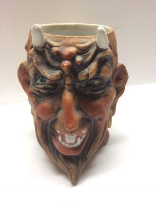 Devil Satan Mug Pocelain Bohne & Sons Germany Antique Halloween photo