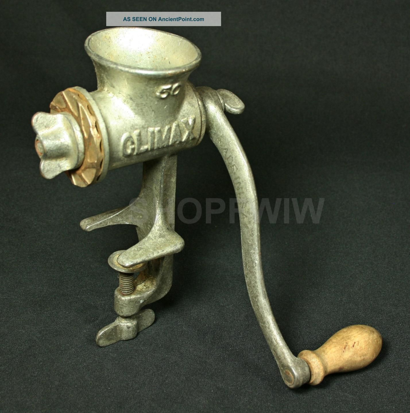 Vintage L.  F.  & C Climax 50 Cast Iron Meat Grinder Circa 1940 Meat Grinders photo