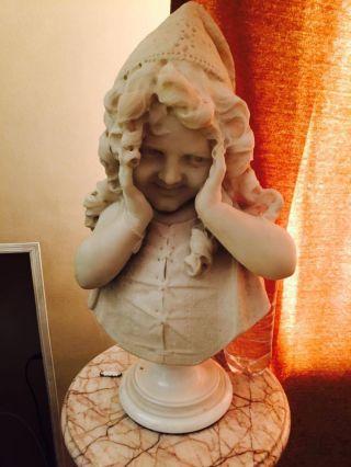 Marble Statue Of Children 18th Century photo